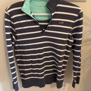 2/15$ Vineyard Vines Shirt Gray/Blue Size L(Child)